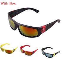 Con la Caja de La Vendimia Clásico Hombres Deporte Al Aire Libre Gafas de Sol De Conducción Pesca Gafas de Sol mujeres Diseñador de la Marca de gafas de Sol Retro
