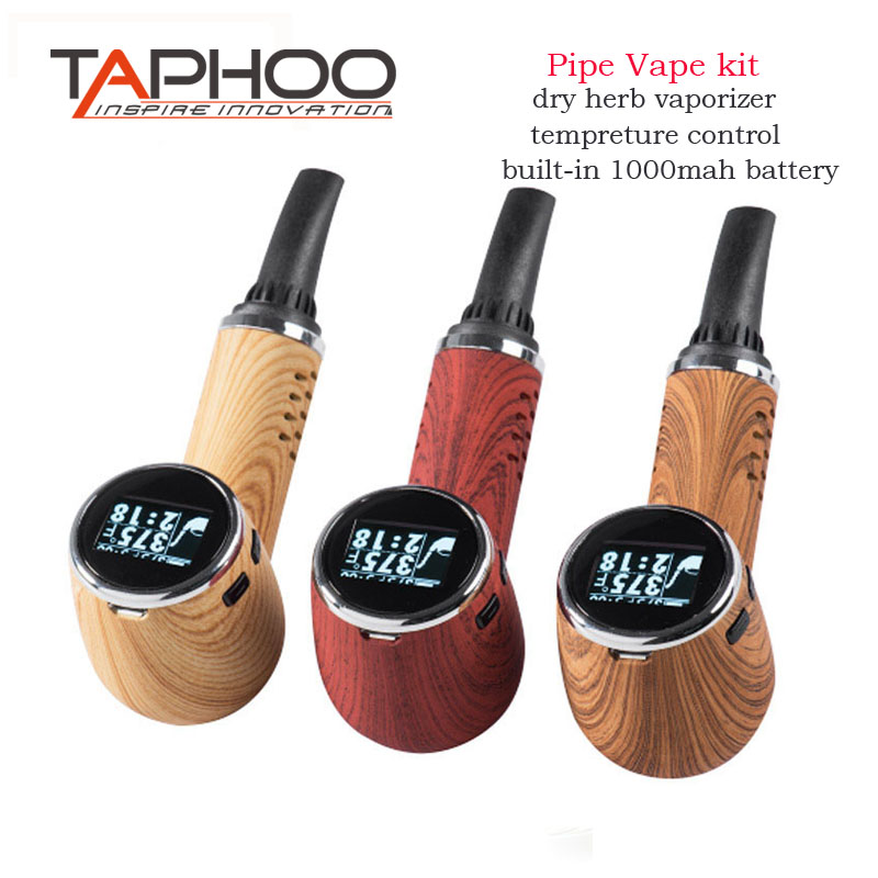 Original TAPHOO PipeVape herbal vaporizer smoking pipe vaporizer dry herb electronic cigarette herbal e cigarettes vapor herbal muscle