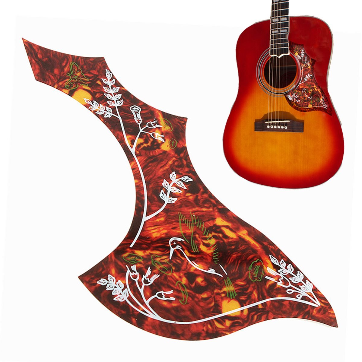 red hummingbird pattern classic acoustic guitar pickguard protective scratch plate pickguard for. Black Bedroom Furniture Sets. Home Design Ideas