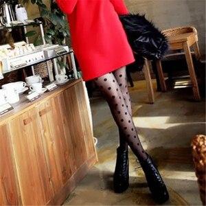 Sexy Frauen Polka Dot Strumpfhosen Frauen Sheer Silk Strumpfhosen