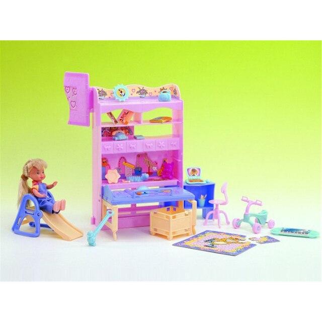 Permainan Bayi Kamar Mini Aksesoris untuk Barbie Rumah Boneka Bayi Klasik  Mainan untuk Gadis Gratis Pengiriman 4369365bfa
