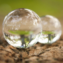 natural crystal ball lens globe gifts 40/60/80 mm glass