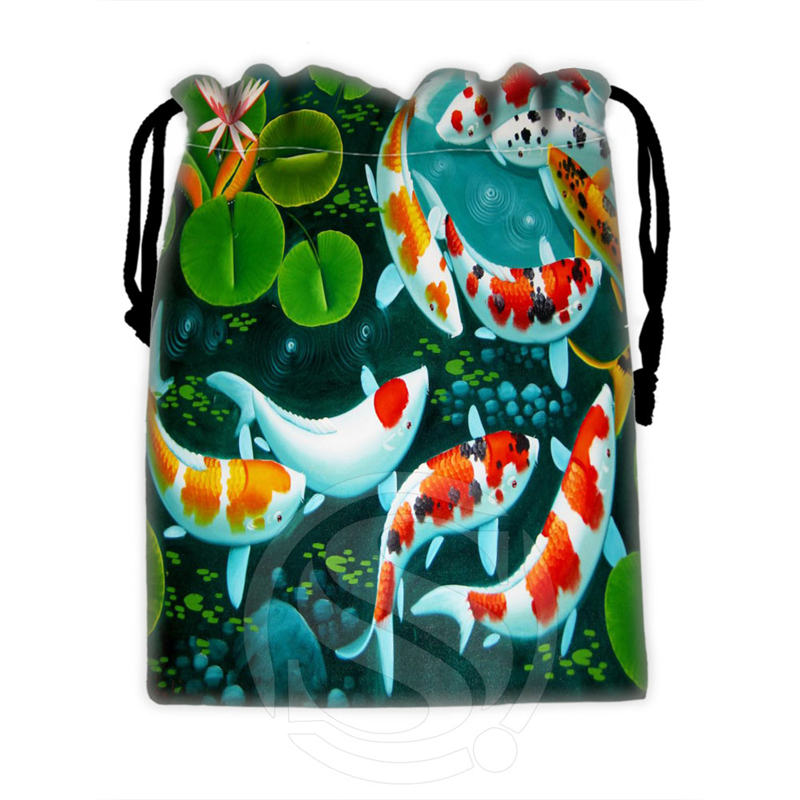 New Arrive Custom Fish #3 Drawstring Bags For Mobile Phone Tablet PC Packaging Gift Bags18X22cm SQ00715-@H0335