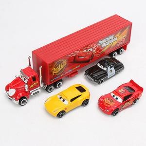 Image 3 - 7pcs/El Set Disney Pixar Juguetes de Cars 3 Rayo McQueen Jackson Storm Mater Mack tío Camión 1:55 Fundición a presión Metal Modelo de Coche Regalos para Chicos