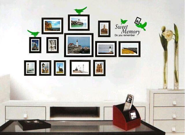1 Set Photo Frames 118*66cm Scenery Photos Living Room Vinyl Wall ...