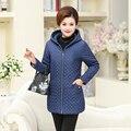 XL для 4XL капюшоном шерсть лайнер толстый зимы женщин Парки Плюс размер 2016 сплошной цвет случайные длинные Стройные дамы вниз пальто куртки