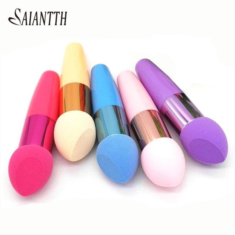 SAIANTTH Single Beveled puff makeup brushes cosmetic sponge brush Blush BB cream liquid foundation beauty tool wet dry maquiagem