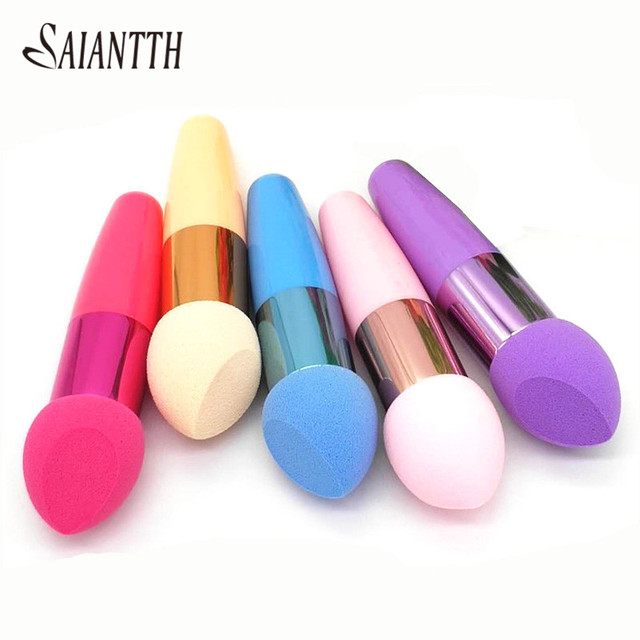 SAIANTTH Single Beveled puff makeup brushes cosmetic sponge brush Blush BB cream liquid foundation beauty tool wet dry maquiagem