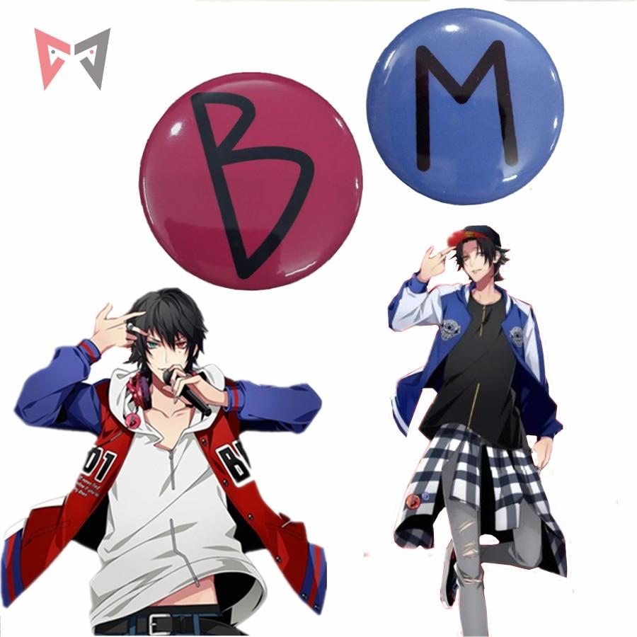 MMGG  Halloween Anime Division Rap Battle Cosplay Ichiro Yamada And Jiro Yamada Cosplay Badge Brooch