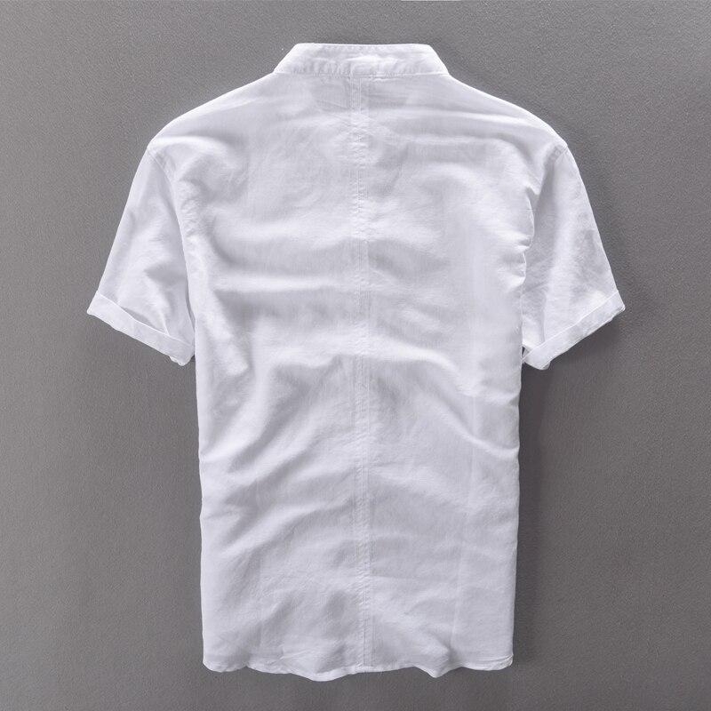 Moška srajca s kratkimi rokavi poletne platnene majice moška - Moška oblačila - Fotografija 2