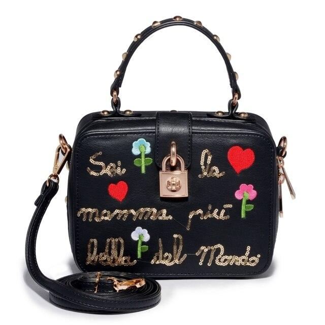 AMELIE GALANTI Женская сумка с компактной вышивкой
