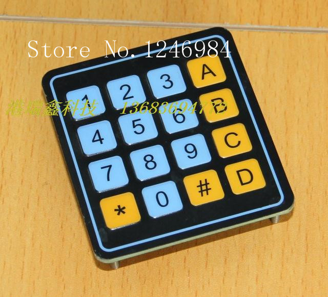 [SA]Electronic components Membrane Switch 4X4 membrane keypad 4 * 4 matrix keyboard numeric keypad 0-9 AD--20pcs/lot apple mb110ru b keyboard with numeric keypad проводная white