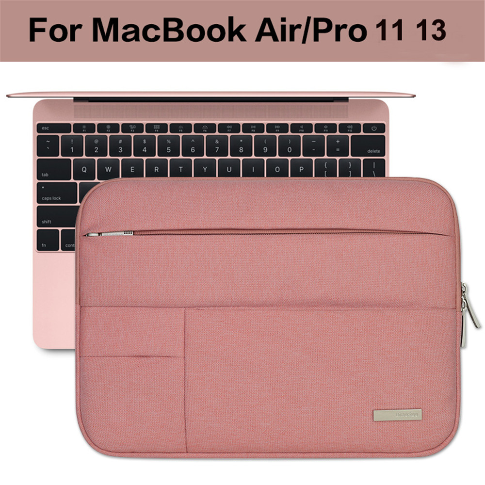 Image 3 - Men Women Soft Nylon Notebook Sleeve Multi Pocket for Macbook Pro/Air Retina 11 13 inch Laptop Bag Case For Mac 13.3-in Laptop Bags & Cases from Computer & Office
