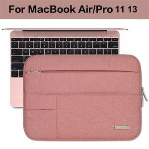 Image 3 - Nam Nữ Nylon Mềm Xách Tay Nữ Tay Đa Năng Bỏ Túi cho MacBook Pro/Air Retina 11 13 inch Túi dành cho Mac 13.3