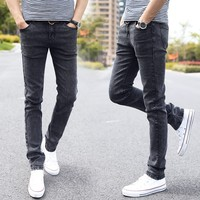 CHOLYL Designer Styles Brand Fashion Elastic Casual Straight Skinny Slim Fitted Jeans Pants Tapered High Waist