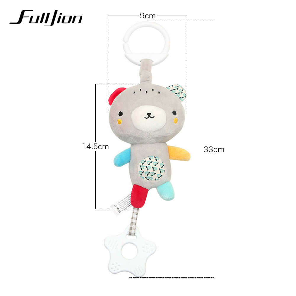 Fulljion Baby Rattles โทรศัพท์มือถือเด็กวัยหัดเดินของเล่นคริสต์มาส Crib ของเล่นสำหรับทารกนุ่ม Bell เครื่องดนตรีสัตว์ Montessori มือถือ Rattles