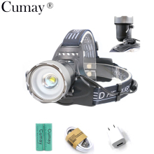6000 Lm Brightness XML L2 LED Headlamp 2-mode Light Sensor USB Rechargeable Zoomable  Headlight Head Lamp With Battery Charger sitemap 19 xml