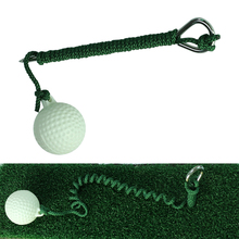 Hot! Rope Golf Driving Ball Swing Hit Practice Ball with RodeTraining Aid Ball Convenient Retractable Golf Ball Rope