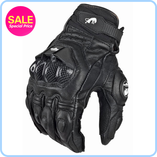 Racing Guantes Fashion Glove Leather Full Finger Black Motorcycle Gloves Motorcycle Protective Gears Motocross Cycling Glove