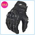 Racing Guantes de moda de piel del dedo completo negro Guantes de moto Guantes motocicleta protector engranajes Motocross ciclismo guante