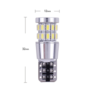 Image 5 - 1pcs T10 W5W LED Bulb 194 168 Canbus No error White Light 3014 30 SMD For Car Interior Dome License Plate Light Lamp 12V