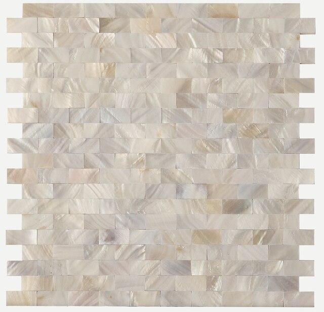 Tuile de mosaïque nacre blanche, dosseret cuisine, carrelage douche salle  bains, LSMP04