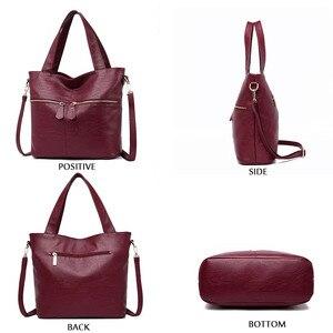 Image 3 - Womens handbags fashion Messenger bag luxury ladies bag designer high quality leather shoulder bag 2019 durable solid color