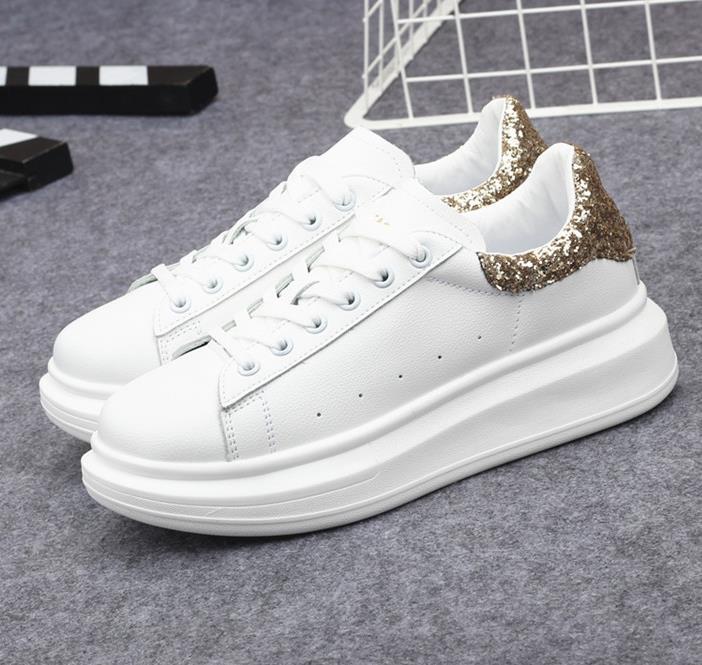 70f24e23741c91 Les Coréenne argent Ciel blanc Strass Conseil Paillettes Tous Chaussures  Cuir Pu 2019 Petit Match Magique ...