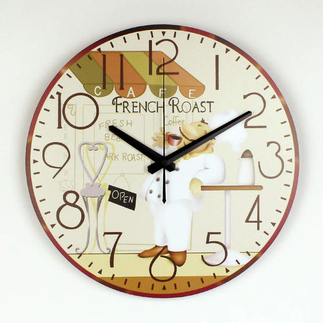 De dibujos animados Grandes Decorativos Más Silencioso Reloj de Pared De  Comedor Decoración de La Pared de la Cocina de Diseño Moderno Del Reloj de  ...
