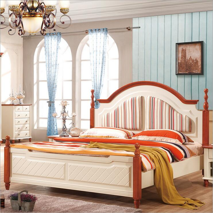 US $650.0 |Mediterranean rustic wood bed American country side bedroom  furniture p10254-in Beds from Furniture on AliExpress - 11.11_Double ...