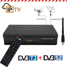 Digital Terrestrial Satellite TV Receiver Combo Dvb T2 + S2 Dvb-t2 Dvb-s2 Tv Box IPTV Youtube H.264 AC3 MPEG-2/4 Russia Europe