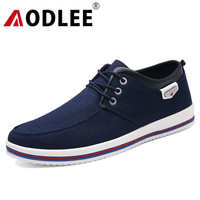 AODLEE Fashion Mens Shoes Casual Plus Size 39 47 Men Sneakers Lace up Men Canvas Casual Shoes Handmade Moccasins Shoes for Men