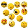 "Emoji Universe: 12"" Emoji Inflatable Beach Balls, 12-Pack one set"