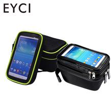 Small Frame Front Tube Cycling Saddle Bag Holder Pouch Case Rainproof Gadget PVC Bicycle Bags 1680D