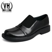 casual shoes mens fashion youth business men cowhide Genuine Leather British retro spring autumn loafers