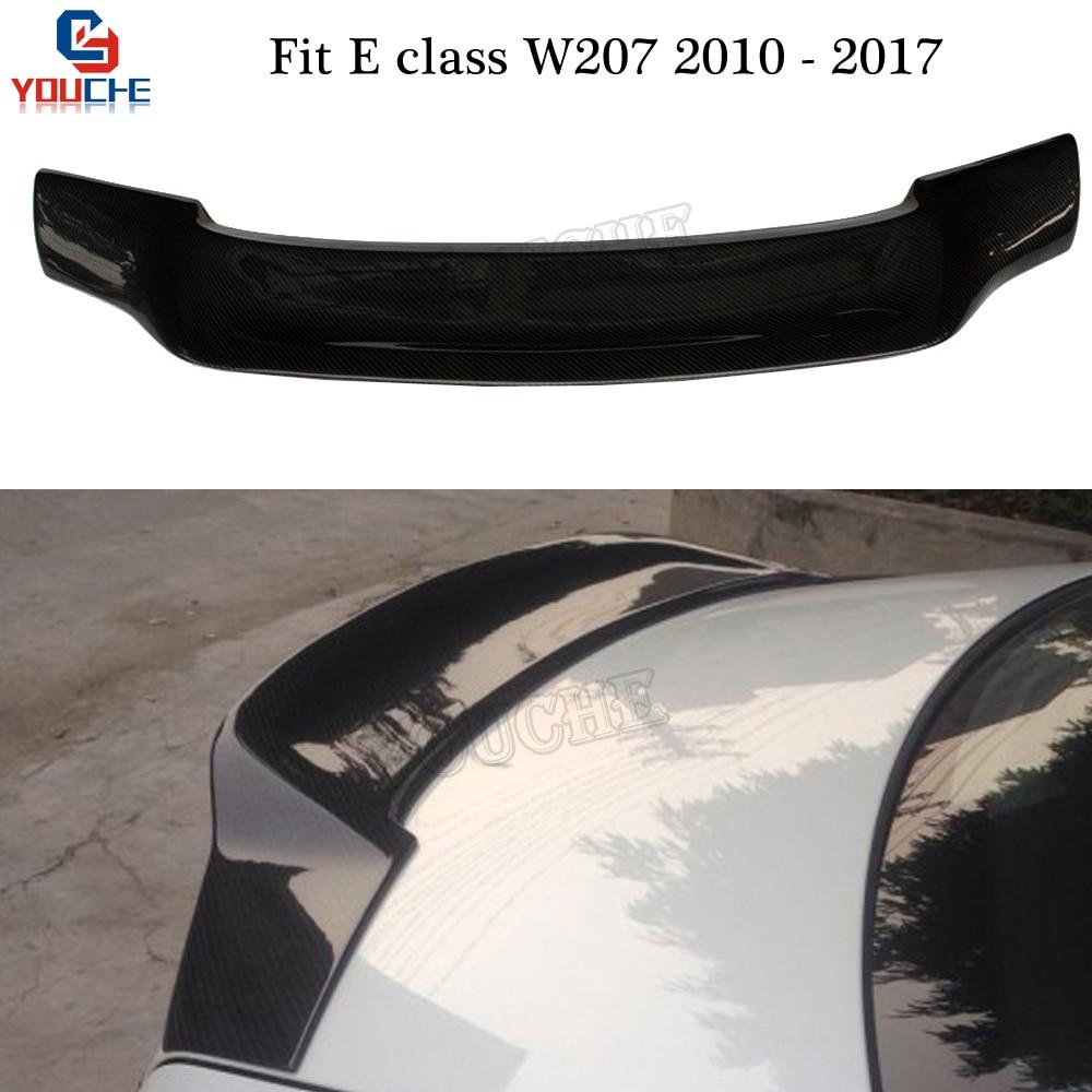 w207 carbon fiber rear boot spoiler wing for mercedes c207 e class 2 door coupe 2010 2017 e250. Black Bedroom Furniture Sets. Home Design Ideas