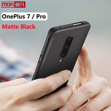 Matowe etui do obudowy oneplus 7 pro oneplue 7 pokrowiec silikonowy tył czarny miękki Mofi ultra cienki pokrowiec ochronny OnePlus 7 Pro