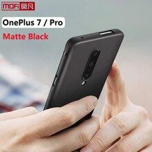 غلاف مطفأ اللمعة لهاتف oneplus 7 pro حافظة oneplue 7 غطاء خلفي من السيليكون أسود ناعم Mofi واقي فائق النحافة لهاتف OnePlus 7 Pro