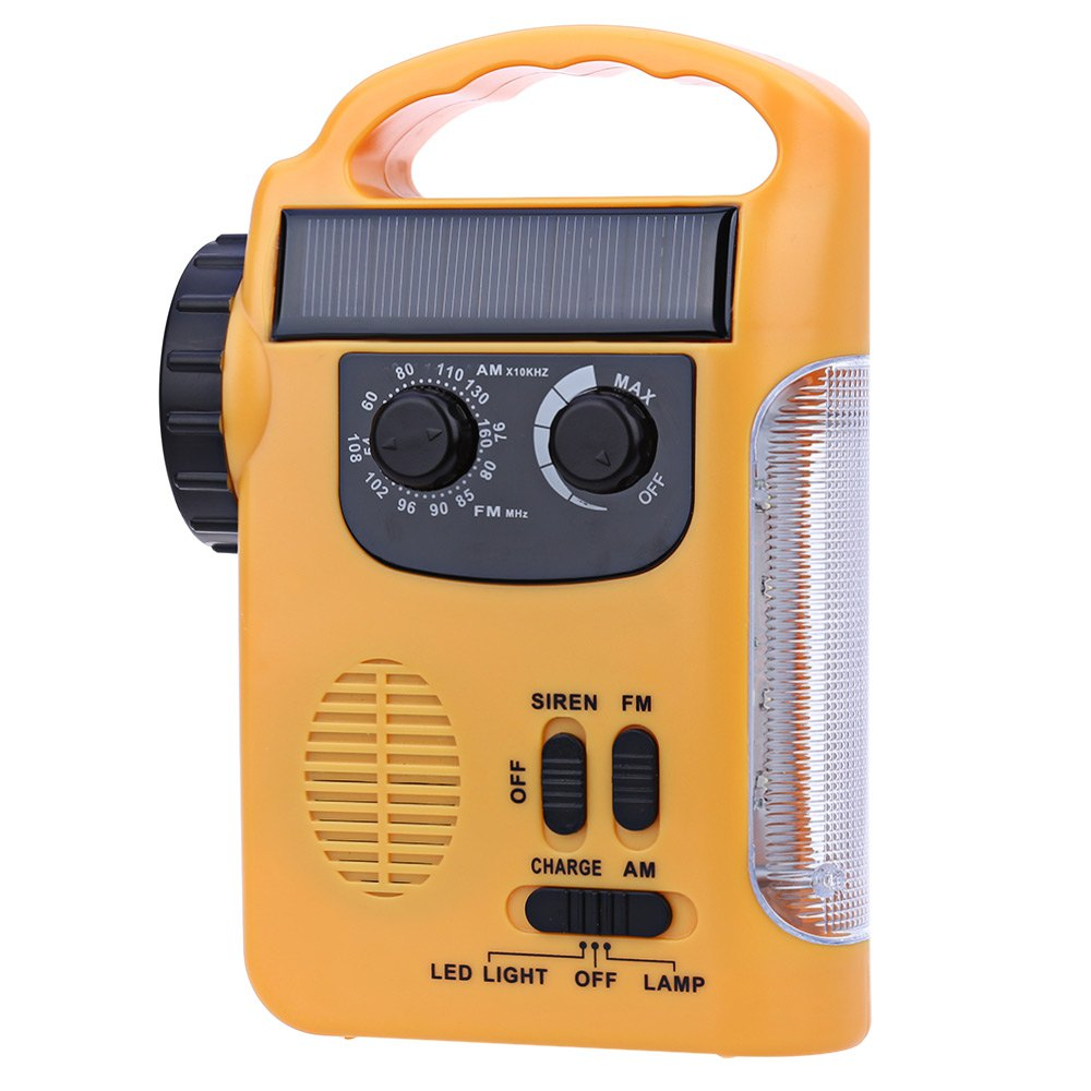 цена на RD339 Solar Dynamo Powered AM FM Radio with Flashlight LED Emergency Lamp Light