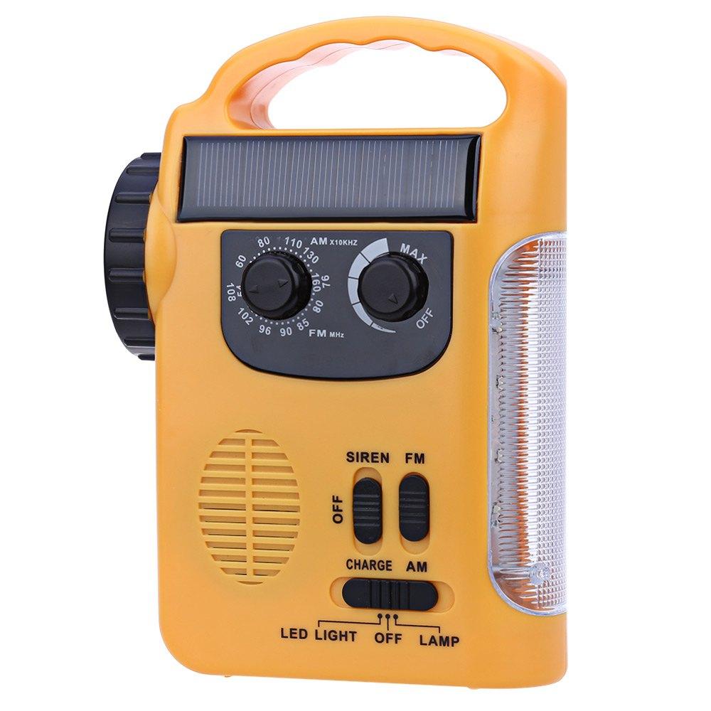 RD339 Solar Dynamo Powered AM FM Radio with Flashlight LED ...