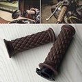 "7/8"" Comfort Motorcycle Hand Grips Cool Brown Motorcycle Handlebar for Cafe Racer Bobber Clubman Custom"
