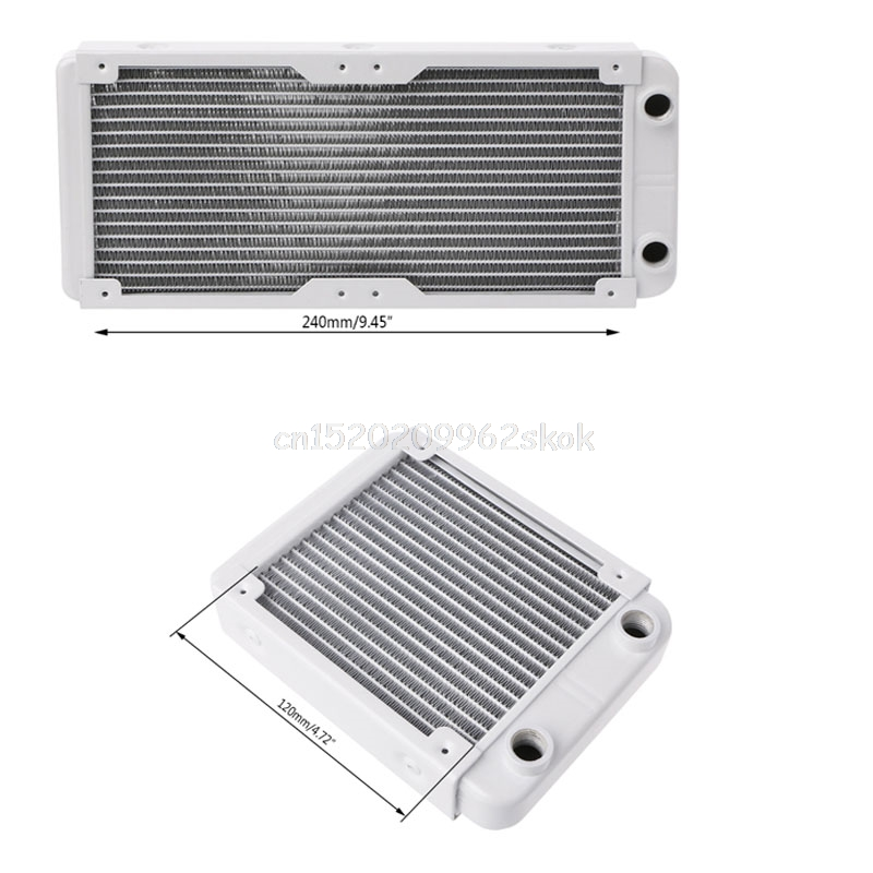 120/240mm Aluminum Computer Radiator Water Cooler 18 Tube CPU Heat Sink Exchanger D23 Dropshipping 240mm 12 tube aluminum computer water cooler pc case water cooling radiator heat exchanger for laptop desktop