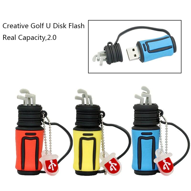 New arrive Pendrive Golf Bag shape usb flash drive 4GB USB2.0 memory drive pen drive 4GB u disk 8GB pendrive 16GB 32GB 64GB