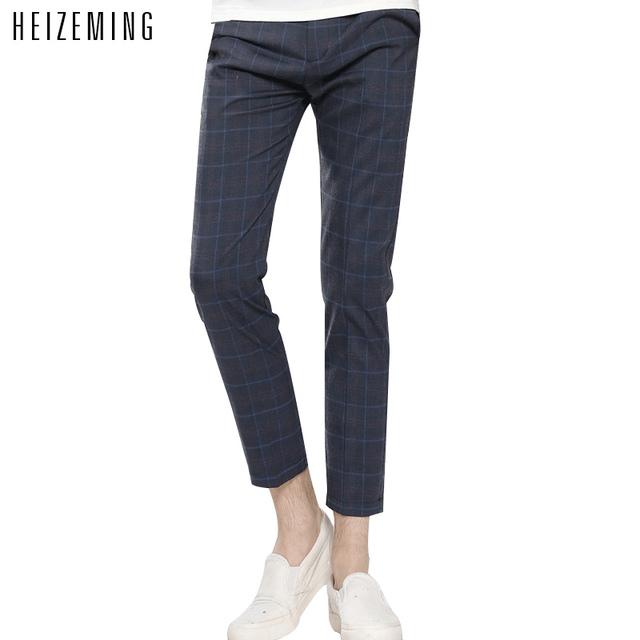 Militar Limited Regular Bajo Sarga Heizeming 2016 Nuevos Pantalones Casuales Hombres Otoño Masculino Rejilla Transpirable Fina Marca Pantalones Tamaño 2xl