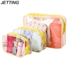JETTING Jelly Plastic Transparent Organizer bags Cosmetic Bags Makeup Casual Travel Waterproof Toiletry Wash Bathing Storage bag