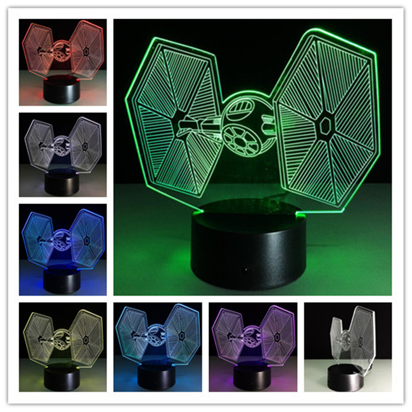 Star Wars 3D Desk Light Touch Table lamp 7 Color Changing Troop LED 3D Night Lights For Kids gifts NightLights Luminaria nba star 7 color lamp 3d visual led