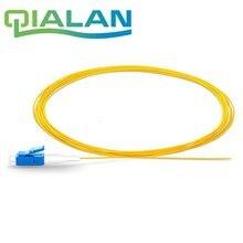 цена на 1.5m 2pcs Simplex 0.9 mm PVCJacket 9/125 Single Mode LC/UPC Fiber Optic Pigtail