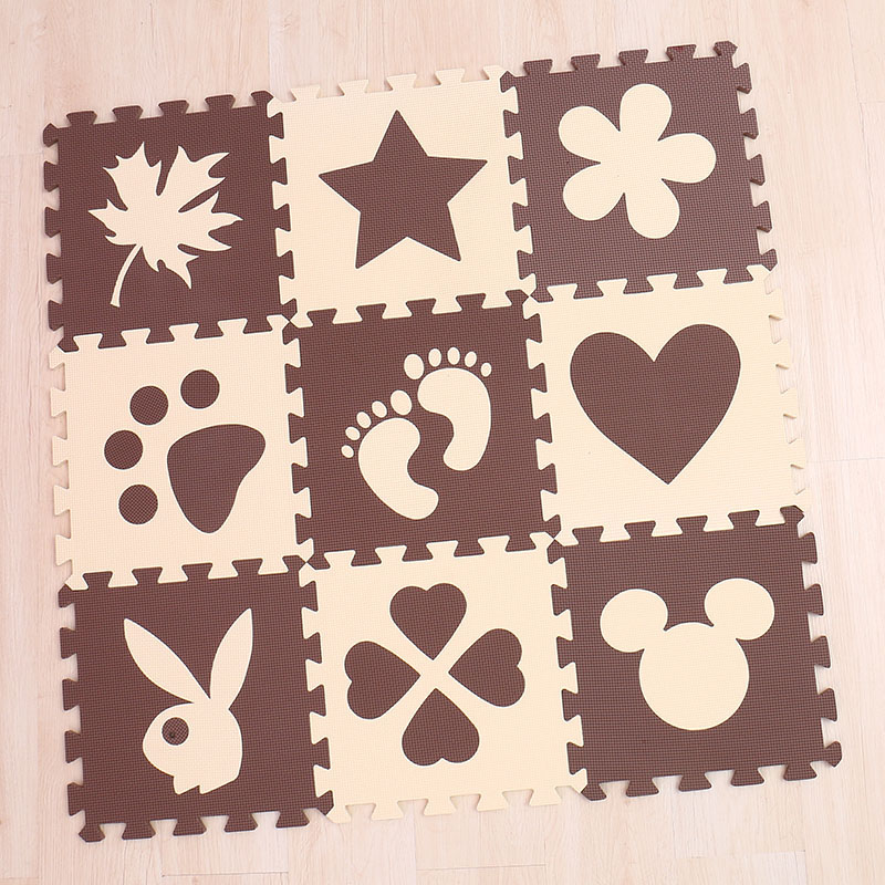 Mei qi cool 30cm*30cm*1cm playmat eva material baby play mat foam flooring kids baby pad mat puzzle carpets and rugs