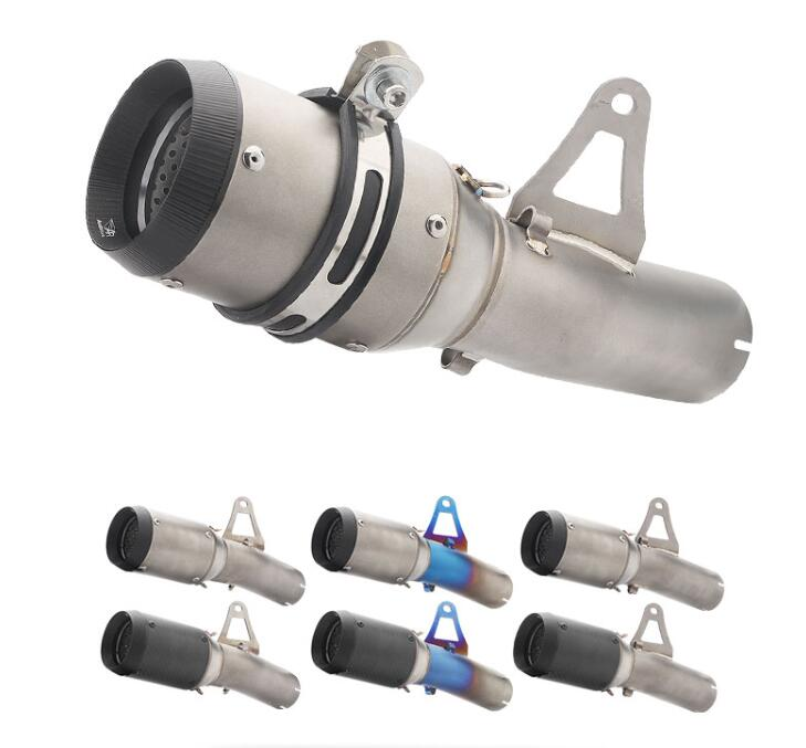 For <font><b>BMW</b></font> S1000RR <font><b>S1000XR</b></font> S1000R 2017 2018 Motorcycle 51mm <font><b>Exhaust</b></font> Link Pipe Escape Connection Pipe System Connector image