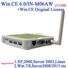 N380W Тонкие клиенты с Windows 6.0 Лицензия COA WiFi Встроенная ARM11 800 МГц CPU 128 МБ RAM 128 МБ Флэш-белый цвет горячей продавать